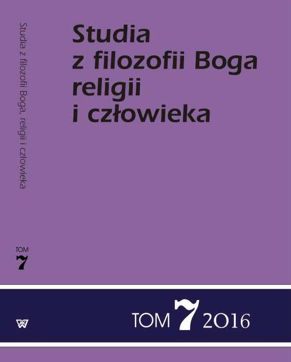 Studia z filozofii Boga, religii i człowieka - tom 7