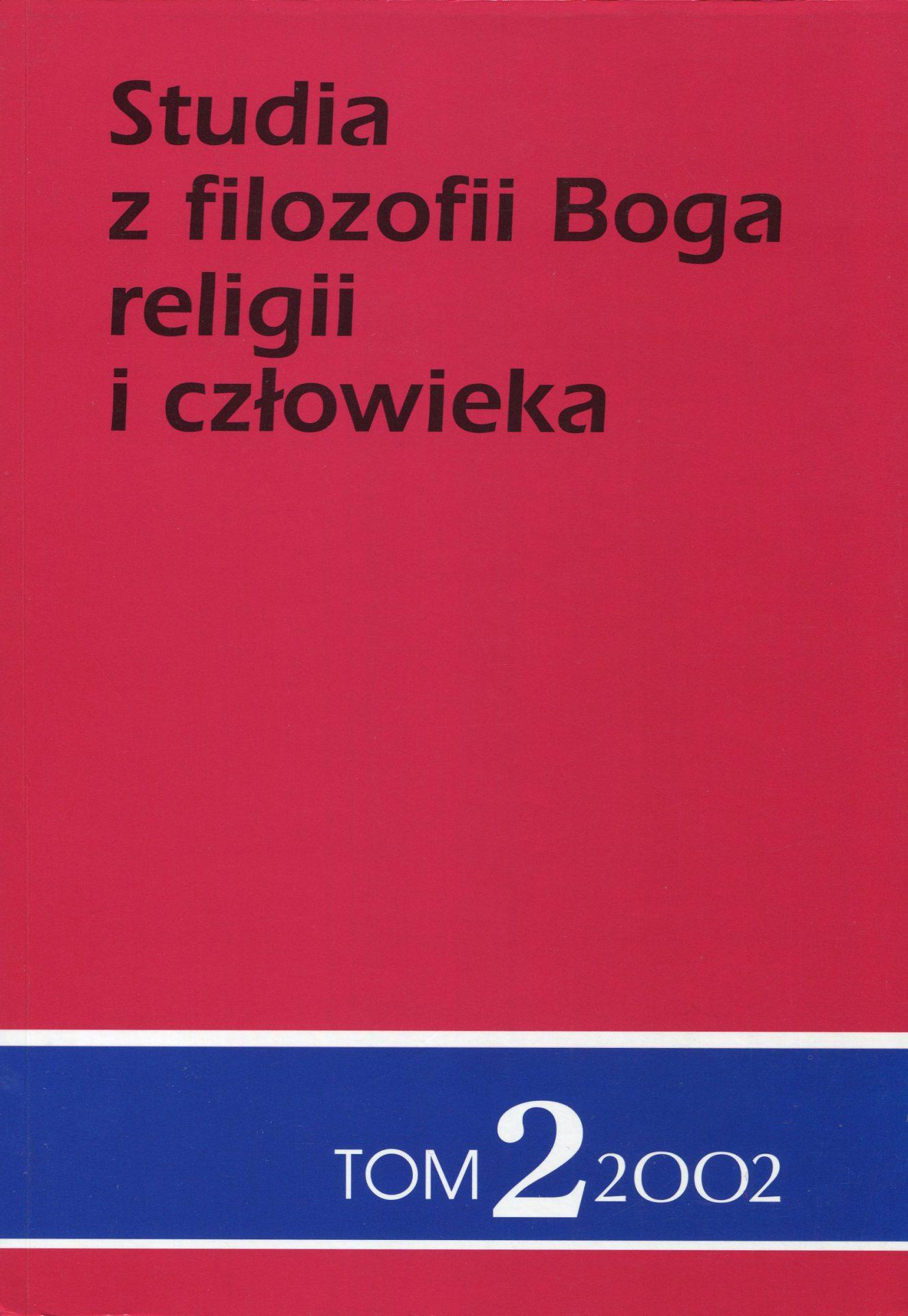 Studia z filozofii Boga, religii i człowieka, tom 2