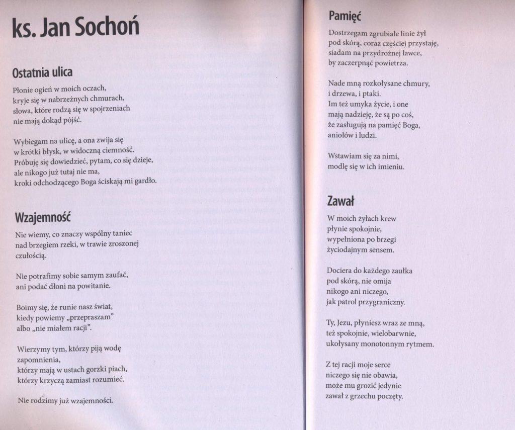 Milczenie I Inne Wiersze Ks Jan Sochoń