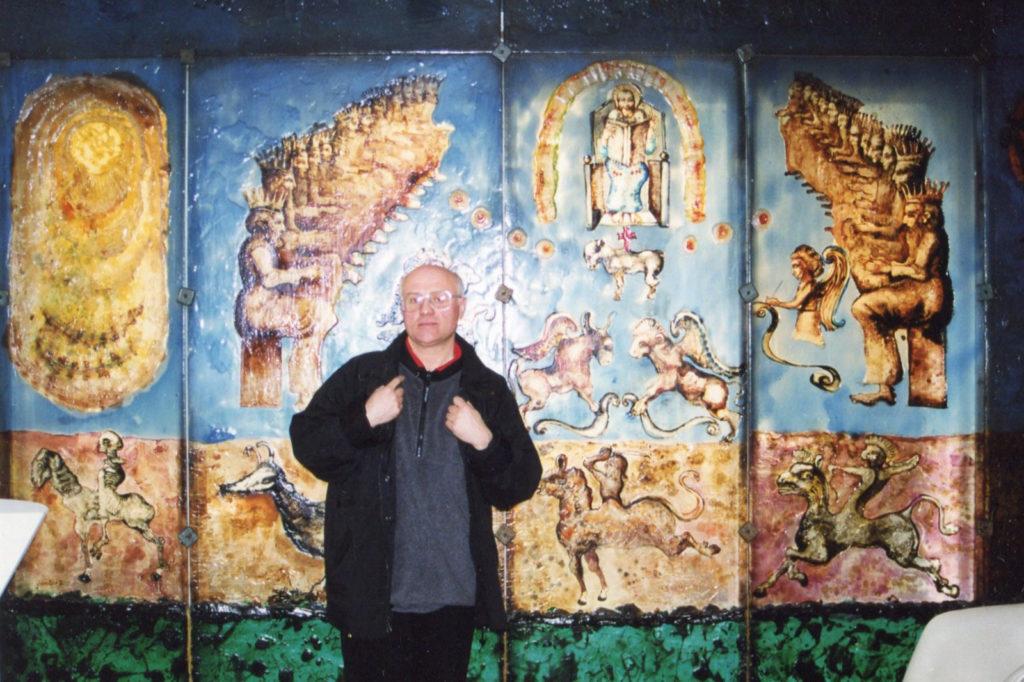 ks. Jan Sochoń, Sala-kaplica ze słynnymi witrażami Jana Lebensteina, Paryż 1988 r.